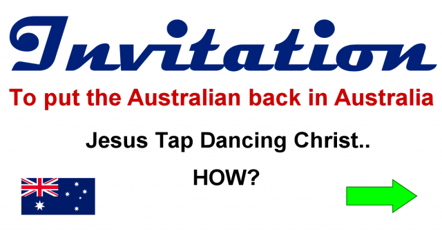 Invitation to put the Australian back in Australia